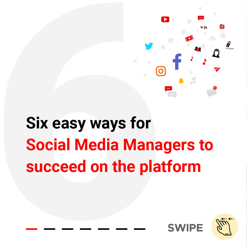 Six easy ways for Social Media Managers to succeed on the platform- Title